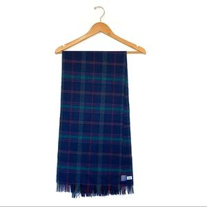 Pendleton tartan plaid virgin wool fringe scarf